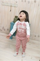 Кофта для девочки Girls' suit with letters/ Autumn children suit/ Hot selling kids hoodies & sweatshirts/ Girls' sports set for 2-5 years old