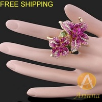 Кольцо European and American style Fashion flower ring factory direct sales, jewelry J0133 size for option