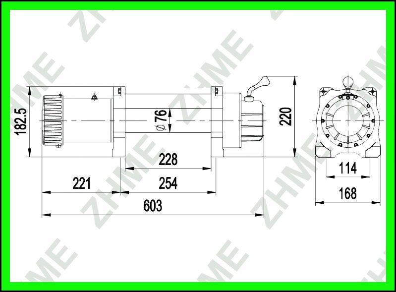 4x4 Winch X8288