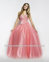 Pink Stunning Formal Evening Princess cut  Dress Party Prom Ball Gown Quinceanera All Size