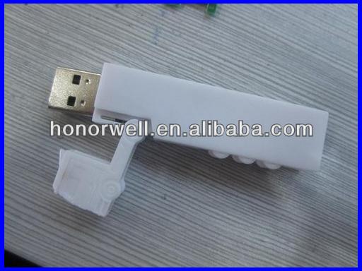 customized long plastic and aluminum truck shape USB with any logo