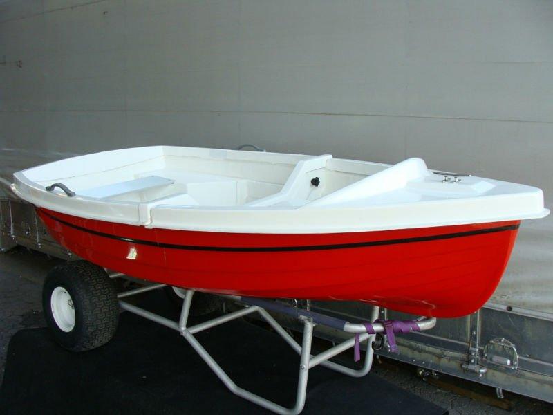Small dinghy fiberglass fishing boat view portable for Portable fishing boat
