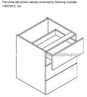 Modern Mdf Melamine Wood Kitchen Cabinet
