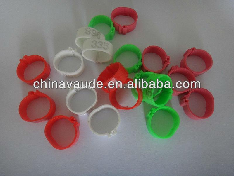 plastic leg rings to distinguish chicken or birds
