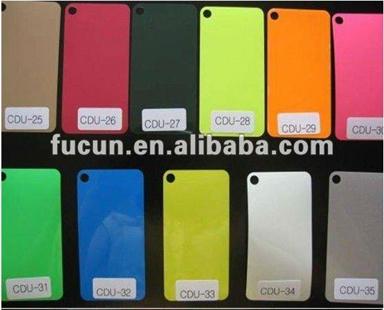 PU color chart 3