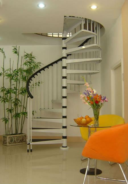 De acero de caracol de madera prefabricada escaleras para - Modelos de escaleras de casas ...