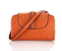 FLYING  BIRDS 2012 Hot Sale Fashion  Ladies Messenger Bag Genuine Leather  Factory Sale HE0153