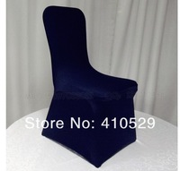 Накидка на стул whole sales/ Spandex /lycra chair cover /banquet chair covers/ navy blue color