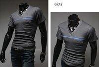Мужская футболка KINGTIME 2012 Men's V-neck T-shirts, Fashion Summer clothes Casual Men's Wear, DT163