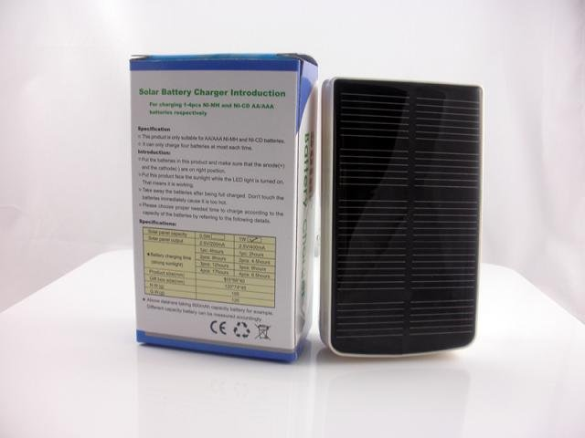 Discount! Free shipping,1pc/lot, Solar AA/AAA battery charger (1W solar panel),Solar battery charger for Ni-MH or NiCd