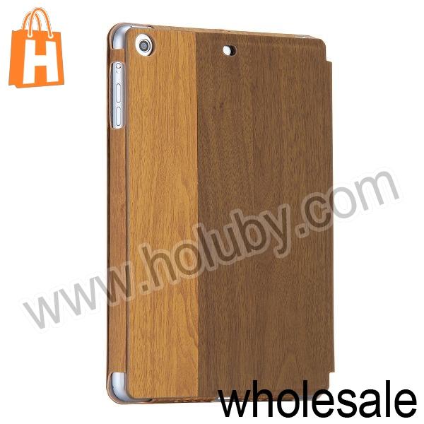 Kajsa Wood Pattern Card Holder Stand Flip Leather Case for iPad Mini 2 Retina iPad Mini