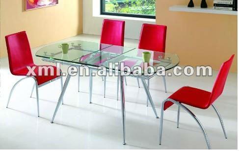 Ovalada extensible mesa de cristal comedor mesas comedor - Mesas ovaladas extensibles ...