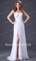GK Stock New Fashion One shoulder Formal Prom Wedding Bridesmaids Party dresses size 8 Size CL3186