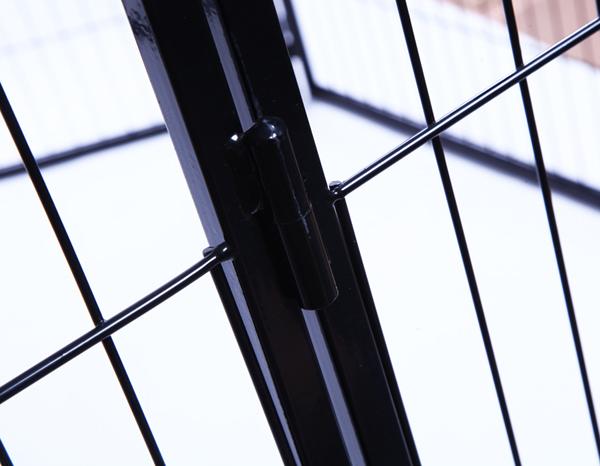 Black 8 Panel Heavy Duty Pet Playpen Dog Exercise Pen Cat Fence