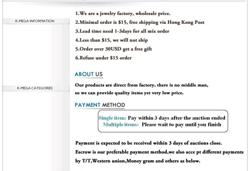 Min order $15, can mix Mens stainless steel Pendant Mens female Jewelry charms wholesale accessories  P009