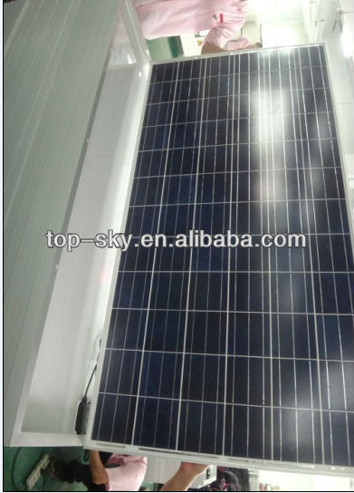 270w solar panel PV poly crystalline with fiber glass for solar power system 25 years lifespan