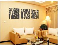 Стикеры для стен 55*55cm*3 Bamboo plants 10sets/lot Wall decor Decals Murals Art Home stickers PVC Vinyl Carved ZZ207