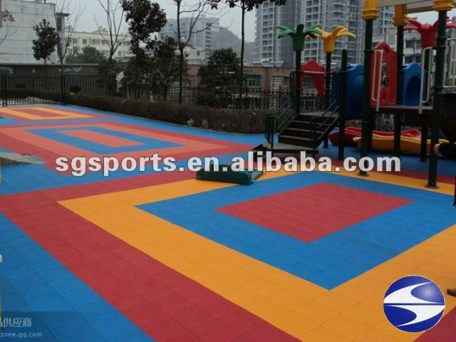 8-15 Year Lifetime Factory direct Multi-purpose Waterproof plastic interlocking indoor playground flooring manufacturer
