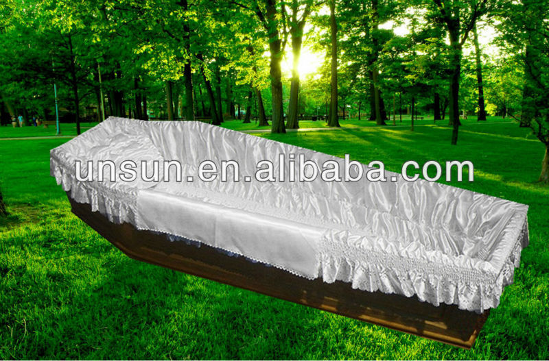 100% polyester satin funeral lining for coffin