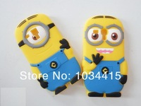 Чехол для для мобильных телефонов 1pcs/lot 3D Cute Despicable Me 2 Minions Silicone Soft Case Back Cover For Samsung Galaxy S3 mini I8190