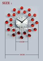 высокое качество новый кристалл стразами украшенные металл star небо новизна настенные часы моды часы Часы часами