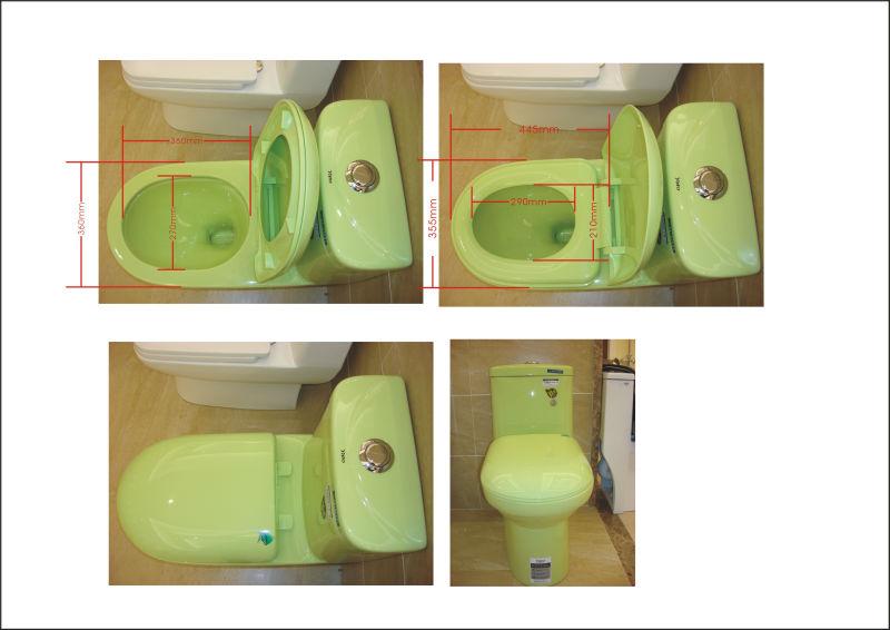 Hacer Del Baño Color Verde:Ya-915 color verde de cerámica de baño cuarto de baño mercancías