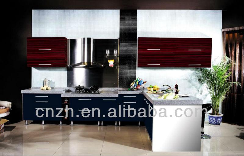 Haute brillant utilis vinyle wrap pvc portes d 39 armoires - Prix porte de cuisine ...