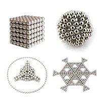 Неокубы, Кубики-Рубика New 216 Sphere Cube Magnet Magnetic Balls Beads Puzzle Fun Magic Toy Gift Silver #2634