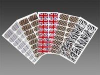 5 Pack Trendy Nail Sticker Nail Foils Transfers Zebra /Star / Flag Pattern