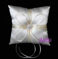 Крем атласная обручальное кольцо подушки Подушки/Люкс
