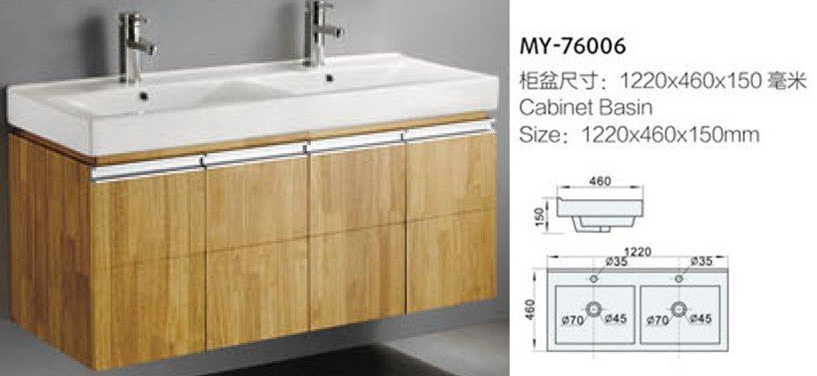 Doppio gemelli lavandini bacino del bagno con due rubinetti my ...