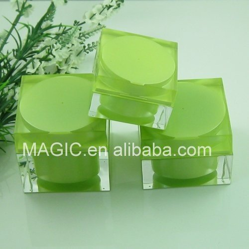 Cubic Thick Wall Luxury Acrylic Cream Jar