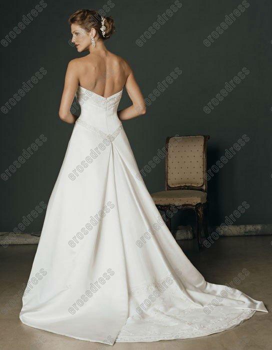 CB-1694 Simple Design Strapless Suzhou Wedding Dress