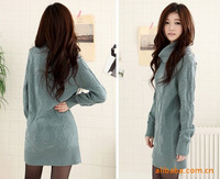 Женский пуловер 2013 autumn and winter women's solid color long sweater
