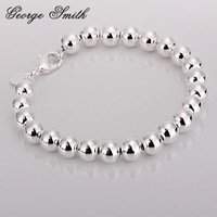 GSSPH126-H / 925 silver 8mm hollow wood bead bracelet,fashion jewelry,trendy chain,Nickle free antiallergic ,factory price