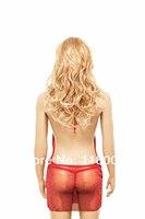 free shipping red gauce sexy nightgrow or robe