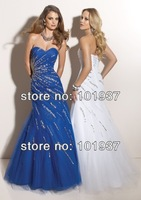 Free Shipping Wholesale New Sexy Champagne One Shoulder Sweetheart Popular Beading Lace Prom Dresses Real Sample JP7271