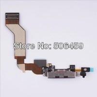 Гибкий кабель для мобильных телефонов 10pcs/lot Black -Charger Dock Connector Flex Cable for iPhone 4S