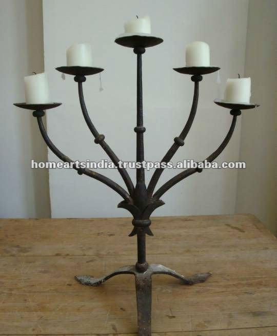 Candelabros de hierro candelabros de bodas para centros de - Candelabros de pared ...