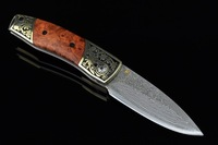 EMS Free Shipping  William Henry pure copy A12. Damascus collection folding knives