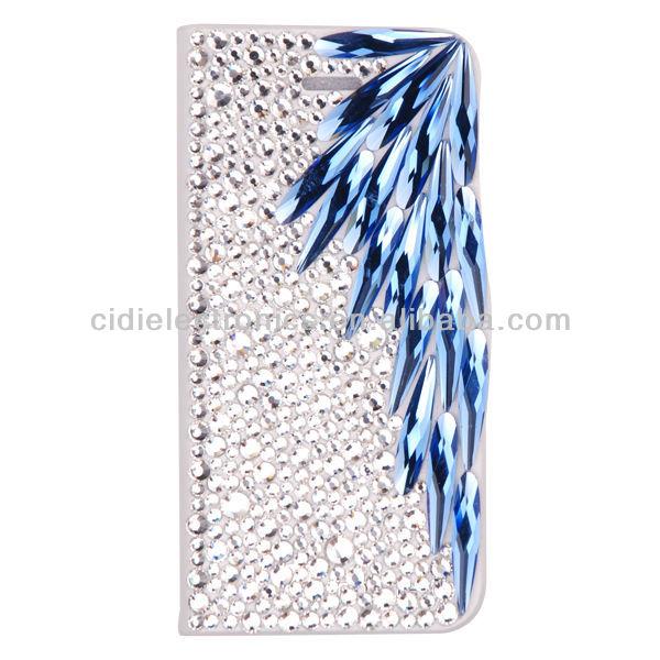 New For iPhone 5 Luxury Diamond Bling Bling Plastic Flip Cover Case