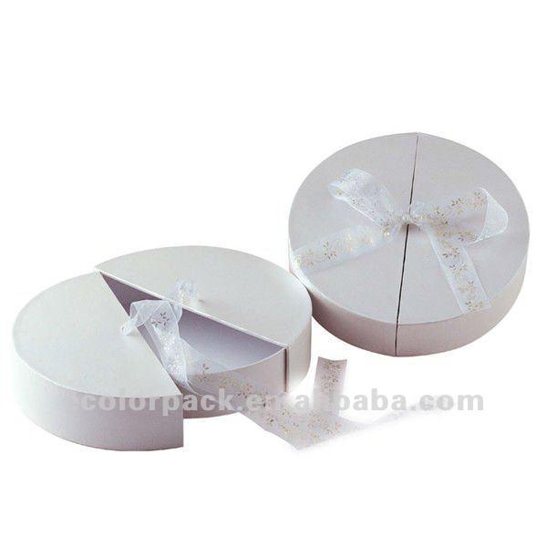 Personnalis ronde carton cadeau bo te vendre avec ruban - Emballage cadeau boite carton ...