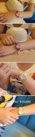 Наручные часы 2pcs New HELLO KITTY Crystal Stone Girl Quartz Wrist watch Wristwatch Can Choose the Color Christmas gift 12W10001