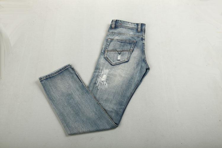 Мужские джинсы New Disel Jeans Men Famous Brand Denim Trousers Straight Designer Men Pants Retro Hole Jeans