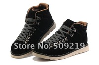 Top Quality 2013 New Men's winter Fur leather boots inside Plush outdoor sport keep warm work footwear size;39-44 Brown