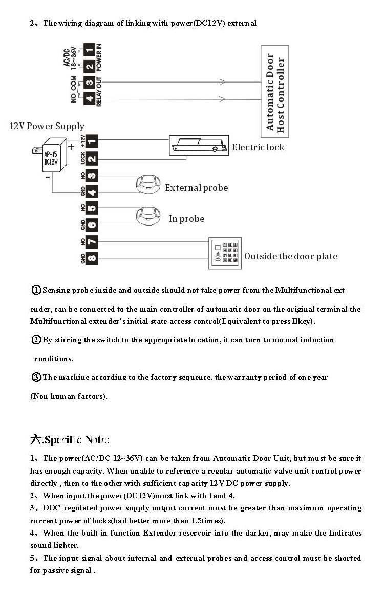 Gd Puertas Automatica Accesorios Puertasfabricante De China Tomar Wire Diagram Tripulacin Cmoda Y Directa Para El Poder La Puerta Corredera 5 Se Puede Conectar Directamente A Las Cerraduras Elctricas Estndar