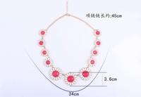 Корейский новых прибывших моды конфеты цвет большой цветок сращивания колье n1133 n1134