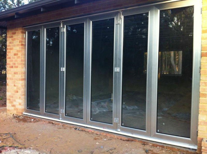Correderas de aluminio bi plegable de la puerta con as2047 - Puerta corredera plegable ...