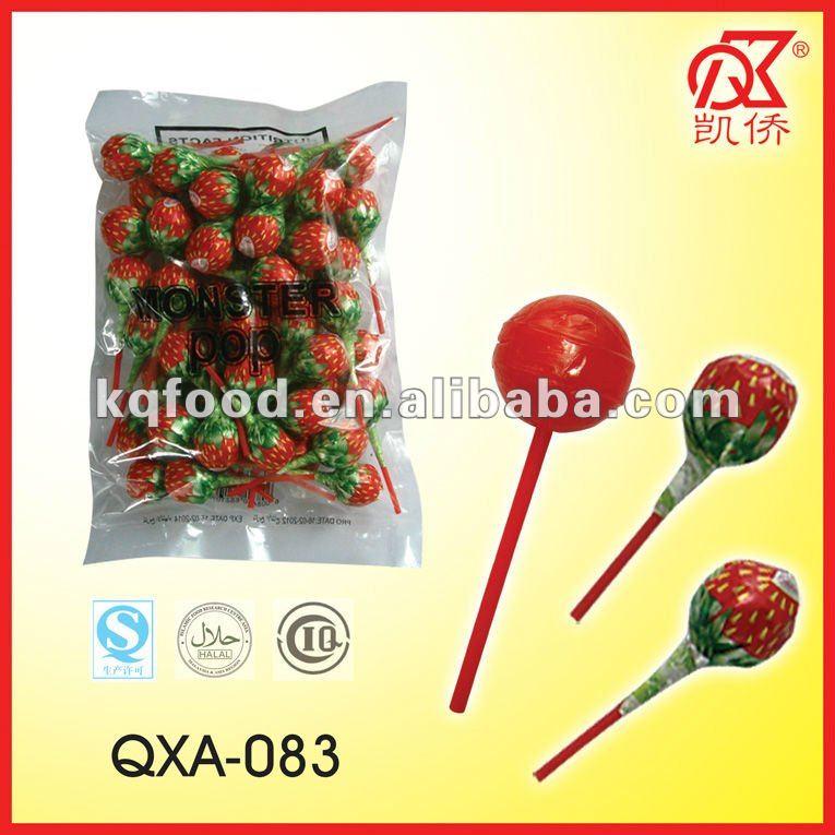 25g فراولة علكة الحلويات المصاصة