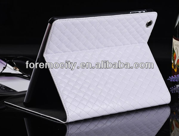 Stylish Grid Pattern Leather Case for iPad 2 case with Wake Up Sleep function